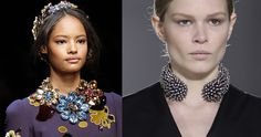 Big bold necklaces http://www.bykoket.com/blog/fall-winter-2014-2015-latest-jewelry-trends-vogue/