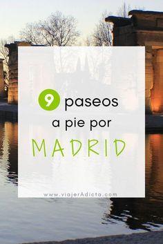 Vas a viajar a Madrid? Tienes que hacer al menos uno de estos paseos a pie! #viaje #madrid #paseos Spain And Portugal, Portugal Travel, Spain Travel, Portugal Trip, Travel Europe, Madrid Nightlife, Madrid City, Best Hotels In Madrid, Weekend Packing