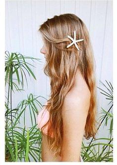 starfish hair clip!