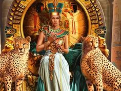 Cleopatra on her throne