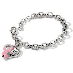 Brighton  Power Of The Pink 16 Bracelet ($50) ❤ liked on Polyvore featuring jewelry, bracelets, brighton bangle, brighton jewelry, pink bangles and pink jewelry