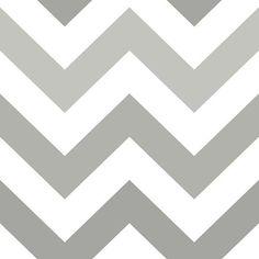 Zig Zag Grey Peel and Stick Wallpaper