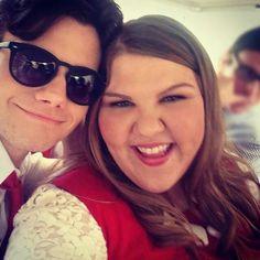 Chris Colfer & Ashley Fink from Glee