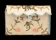 Purse  Date: fourth quarter 18th century Culture: American (probably) Medium: silk, paper