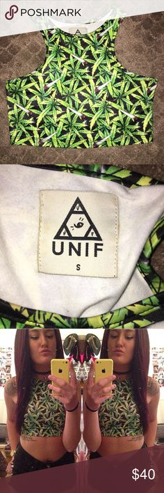 UNIF weed stash crop top cute and comfortable crop top made by unif UNIF Tops Crop Tops