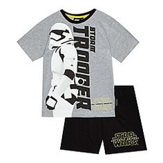 Star Wars - Boys' grey 'Storm trooper' pyjama set