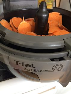 If you are looking for how to make sweet potato chips in your T-Fal Actifry. You have come to the right place. It is beyond easy to make sweet potato chips in the T-Fal Actifry.   It's a bit of a joke that it is so...