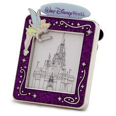 PIN 87984 Pin - Tinkerbell/Cinderella Castle Sketch/Walt Disney World Created especially for Walt Disney World Resort Enameled cloisonné pin frame Glitter accents Silvertone finish Mouse icon pin backs Price: Pink- $13.95 Bought WDW 11/11/13 SKU 400004877538 Serial: P389-7448-2-13191