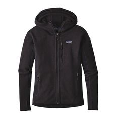 The Patagonia Women's Performance Better Sweater® Hoody creates the perfect mix of lightweight warmth & motion-friendly utility for your active lifestyle. Patagonia Sweater, Pullover Hoodie, Sweater Hoodie, Vest Jacket, Hooded Jacket, Cool Sweaters, Outdoor Woman, Outdoor Outfit, Black Hoodie