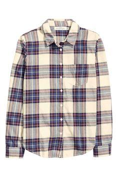 Plaid Shirt H&M beige