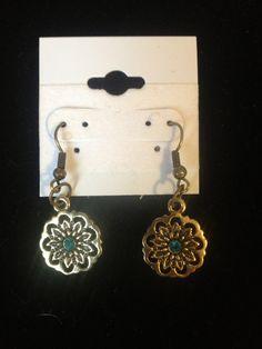 Handmade Gold Metal Earrings by FadedBead on Etsy-Sold