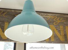 barn light made from ikea pendant