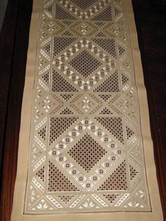 """Hardanger Embroidery Design Type of Hardanger calls """"Antep İşi"""" by lela Types Of Embroidery, Embroidery Patterns Free, Learn Embroidery, Embroidery Stitches, Hand Embroidery, Embroidery Designs, Bookmark Craft, Drawn Thread, Hardanger Embroidery"""