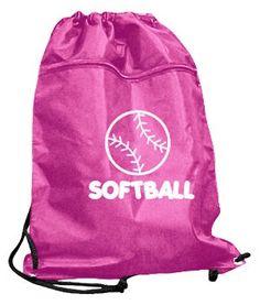 *Pink Drawstring Backpack/ Softball Bag Basketball Equipment, Sports Equipment, Softball Bags, Drawstring Backpack, Light Blue, Backpacks, Pink, Backpack, Pink Hair