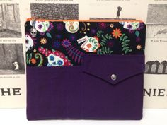 Day of the Dead Tablet Sleeve with Pocket by HizzyBHandmade, $30.00
