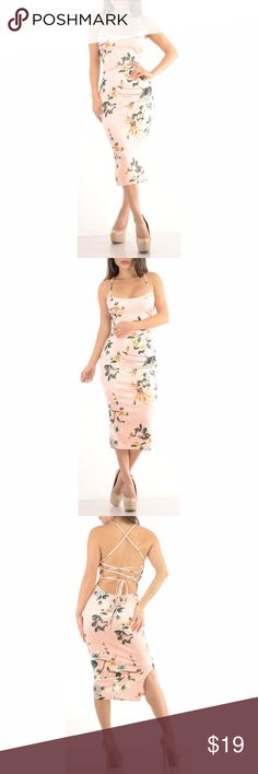 Sexy Floral Girly Dress with lace up back material is lightweight but thick. Model 5'6 is wearing a small & the exact same style. Close up shows fabric quality-Color dif is lighting. Brand new with tag! NWT Small=size 2,3,4  Medium= size 5,6,7  Large= size 8,9,10  Fabric designed w/stretch-Fit similar to styles @ Hello Molly, ASOS, Showpo ,Hot Miami Styles, Sabo Skirt , NBD, Lulus ,Tobi, Touch Dolls, Fashion Nova, Forever 21, Nasty Gal d705  Visit my closet for more Styles! Sweet Sexy Styles…