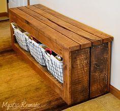 Pallet Wood Storage Bench                                                                                                                                                                                 More
