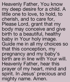Prayer for conception Joe found Biblical Quotes, Bible Verses Quotes, Faith Quotes, Life Quotes, Prayer Scriptures, God Prayer, Prayer Quotes, Prayer For Fertility, Prayers For Conceiving