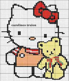 Hello Kitty cross stitch.