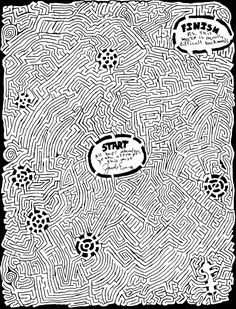 Complicated Coloring Pages For Adults | Printable Mazes - Difficult and Nearly Impossible Level