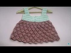 Vestido de verano a crochet para niña muy facil y rapido - YouTube