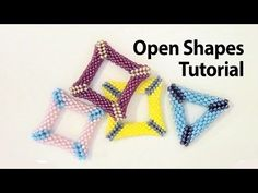 Basic Peyote Tutorial - Peyote open shapes: how to make a holed triangle with beads - YouTube