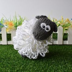 2704c9391bf CURLY THE SHEEP TOY KNITTING PATTERNS Pattern Design