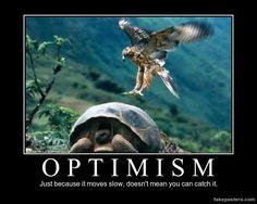 Optimism - Demotivational Poster