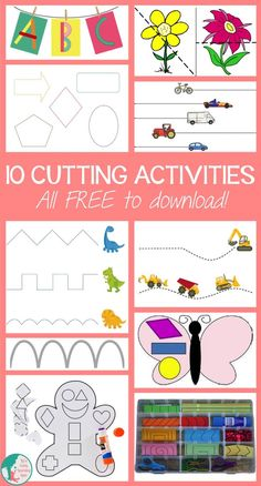 Cutting activities are great for developing fine motor skills. They're also super fun! There are lots of themes to choose from here and they're all FREE!