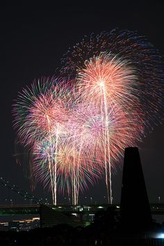 Fireworks by Sakagami Takayuki, via - Life with Alyda Best Fireworks, Fireworks Art, Katy Perry Firework, World Festival, Fire Works, Festivals Around The World, Let's Have Fun, Sparklers, Landscape Photos