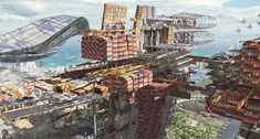 Olivier Pron was the lede matte painter for Guardians of the Galaxy. His concepts for the movie sets—and other movies and personal projects—are extremely cool. I love the Chris Foss-iness of Xandar, the home planet of the Nova Corps. The rest of his work is equally great. I love the last three paintings in this series.