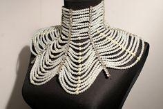 Bridal Shoulder Necklace Wedding Shoulder Jewelry by BeyhanAkman