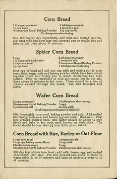 Best War Time Recipes: A Look at Preparedness Cooking Skills from the Past. Try the potato bread for GF Retro Recipes, Old Recipes, Vintage Recipes, Cookbook Recipes, Dessert Recipes, Cooking Recipes, Healthy Recipes, Cream Recipes, Homemade Cookbook