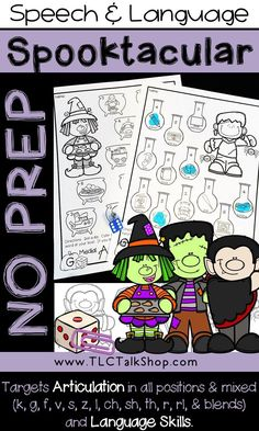106 No Prep pages targeting Articulation and Language Skills.  Great for home practice!