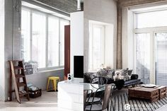 Photo by Krista Keltanen http://kristakeltanenblog.com/2014/08/interior-industrial-loft/