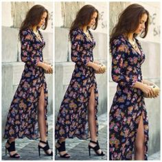 How to Chic: BOHO FLORAL MAXI DRESS