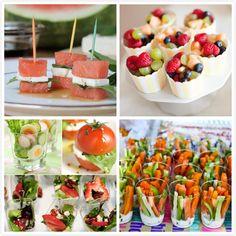 Mini Salads, Veggies and Fruit Tray