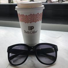 Peet's coffee and anytimeglasses collaboration 👌 #anytimeglasses #anytimesunglasses #sunglasses #ootd #eyewear #fashion #fashionsunglasses #korean #koreanstyle #koreanfashion #california #peetscoffee #coffee