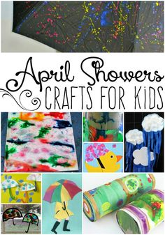 After this super snowy winter these 20 April Showers Crafts for Kids might be just what you need for the rainy days to come. Have fun!