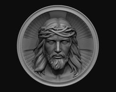 jesus medallion 3d model stl 2
