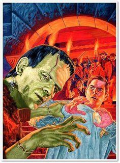 Universal Classic Monsters Art : Frankenstein