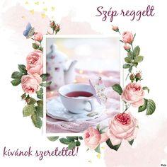 Rose Buds, Good Morning, Tea Cups, Tableware, Buen Dia, Dinnerware, Bonjour, Tablewares, Dishes