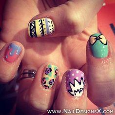mix pastel nail art