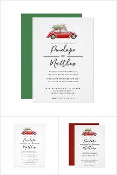 Christmas Wedding Invitations, Watercolor Red, Minimalist Wedding, Wedding Suits, Wedding Season, Wedding Designs, Seasons, Rustic, Country Primitive