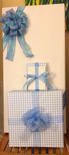 3 different types of bows baby shower gift wrap idea