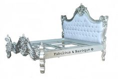 Fabulous & Baroque - Royal Fortune Montespan Bed / Silver Leaf    Forget the Princess & the Pea! I'll be sure to sleep like a Queen!