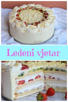 iced wind cake Translation isn't terribly good but there is a video. Frosting Recipes, Cookie Recipes, Dessert Recipes, Desserts, Baking Recipes, Torte Recepti, Kolaci I Torte, Torte Cake, Bunt Cakes