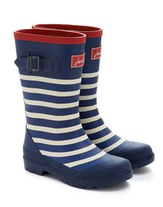 Joules JNR BOYSWELLY Boys Printed Rain Boot, Navstrp. On the list for Jack for Christmas or his birthday!! Love these!!!
