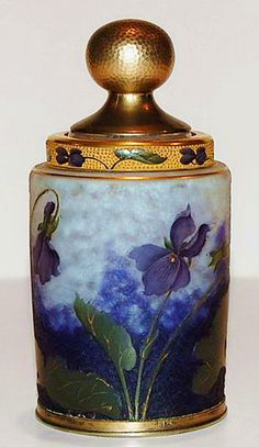 Art Nouveau Era Perfume Bottle  --  French  --  Daum