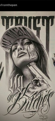 Chicano Art Tattoos, Chicano Drawings, Gangster Tattoos, Chicano Tattoos Gangsters, Body Art Tattoos, Tattoo Drawings, Sleeve Tattoos, Og Abel Art, Yogi Tattoo